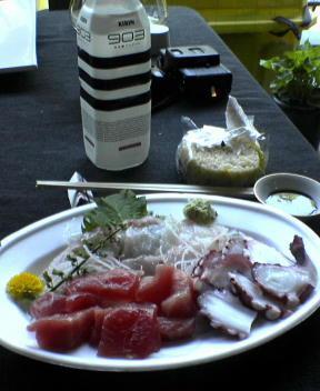 Fresh sashimi lunch