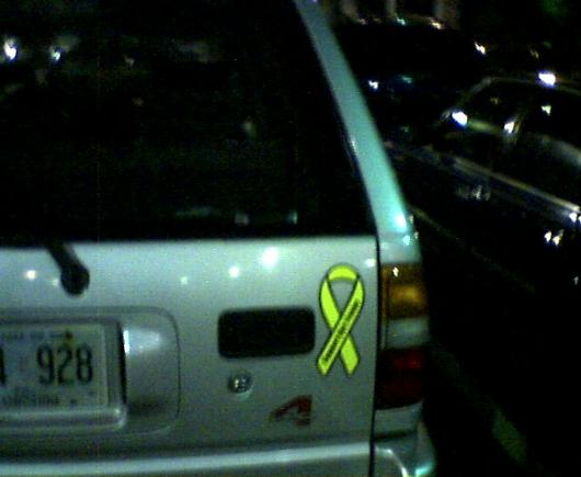 SUV drivers support the troops
