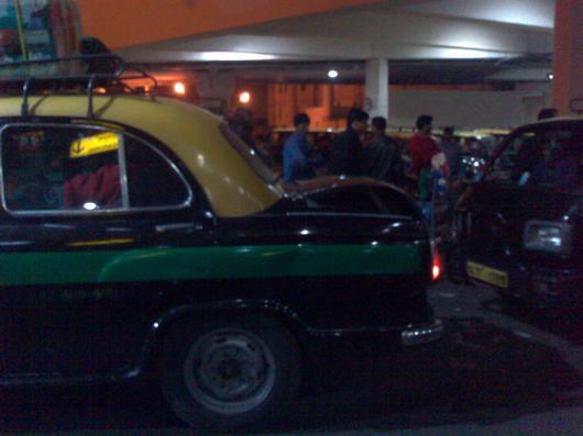 Delhi taxi stand chaos