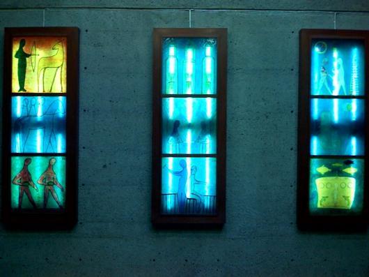 Triptych, Shatner Building, McGill University