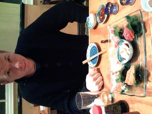 Anders and sashimi, Cafe Japan, Golders Green