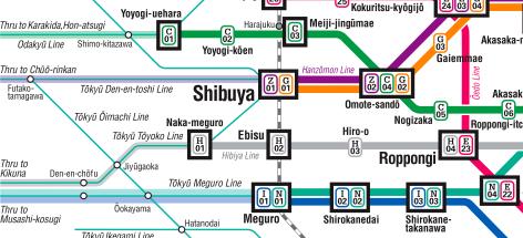 tokyo metro map precis